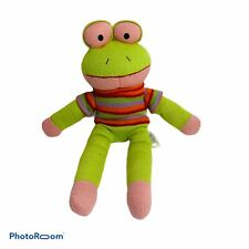 Dan Dee Collectors Choice Striped Knit Frog Child Stuffed Animal Toy Multicolor