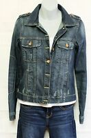 Womens Blue Jean Jacket  Route 66  Distressed Denim XS Extra Small S/Small New