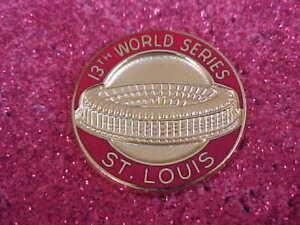 1982 St. Louis Cardinals World Series Media Press Pin - Milwaukee Brewers