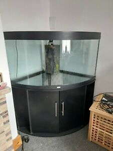 *JUWEL TRIGON 350* LED Corner Aquarium With Black Cabinet & Accessories