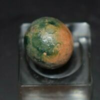 "Antique Civil War Era, Fired Hard Dyed Clay Toy Marble Approx Size .562"" Mint!"