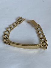 More details for vintage 9ct gold id bracelet not scrap