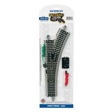 Bachmann 44562 EZ-Track Remote Right Hand Switch w/ Nickel Silver Rails HO Scale