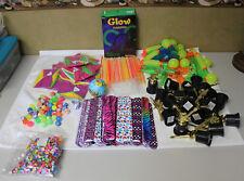 HUGE Lot of Kid's Childrens Toy's Beach Ball Glow Stick Squirt Gun Snap Bracelet
