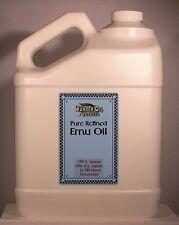One Gallon American Triple Refined 100% Pure Emu Oil. Creamy White. No odor.