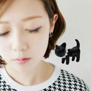 1Pcs 3D Women Girls Kitty Cat Ear Stud Earrings Set Party Gift Jewelry G9T5