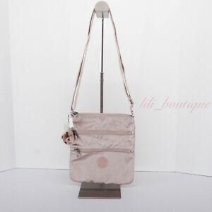 NWT Kipling AC8103 Keiko Crossbody Shoulder Mini Bag Polyamide Quartz Metallic