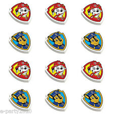 PAW PATROL ERASERS (12) ~ Birthday Party School Supplies Stationery Favors Chase