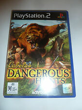 PS2 Cabela's Dangerous Hunts, very good condition, missing booklet, tested