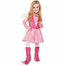 COSTUME CARNEVALE da WINX 4651 vestito per ragazza bambina 7-10 Anni travestimen