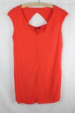 Corail orange rouge IKKS Designer Short Summer Shift Robe Taille 12 races Travail Smart