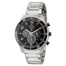 Pulsar PX5055 Men's Chrono Black Dial Power Reserve Solar Watch