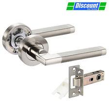 Internal Door Handles with Duo Chrome Straight Lever on Rose Door Handles