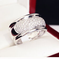 Gorgeous 85 Diamond wide Wedding or Eternity or Cocktail ring
