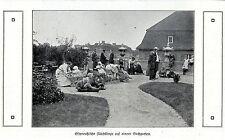 Ostpreußische Flüchtlinge auf einem Dachgarten * Bilddokument 1915