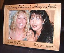 Personalized Engraved Bridesmaid Gift 4x6 Frame Keepsake