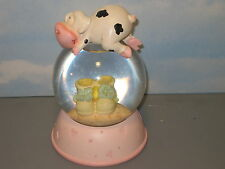 Pink Baby Shoes Snow Globe 7 inch Tall Fine Infant Snow Globe