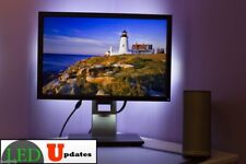 COMPUTER MONITOR LED LIGHT AMBIENT white with UL power adapter & dimmer