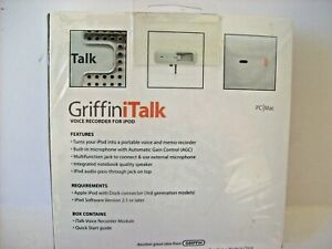 NEW SEALED GRIFFINITALK VOICE MICROPHONE RECORDER FOR IPOD