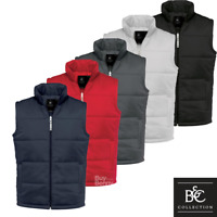 B&C MEN'S BODYWARMER PADDED LINING WARM GILET SLEEVELESS JACKET VEST COAT S-3XL