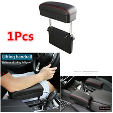 1Pcs Universal Car Center Console  Retractable PU Leather Armrest Storage Box