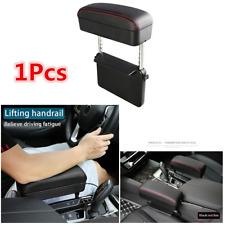 1Pcs Universal Car Center Console Retractable PU Leather Armrest Storage Box