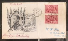 1937 Prince George Canada First Day Cover Fdc Coronation King George Vi Kgvi