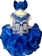 Infant/toddler/baby Royal Lace Crystals Beaded Pageant Glitz Dress 5T G204C