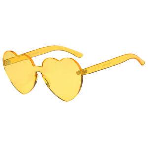 Herz Form Kunststoff Rahmen Retro-Stil Sonnenbrille Brille Dekobrille