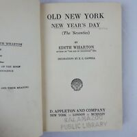 Old New York New Year's Day by Edith Wharton 1924 Appleton & Co Hardcover