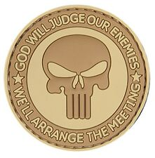"AC-130T: Lancer Tactical ""GOD WILL JUDGE OUR ENEMIES"" PVC PATCH (TAN)"