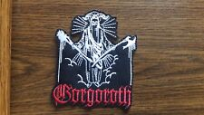 GORGOROTH # 6,,IRON ON WHITE AND RED EMBROIDERED PATCH