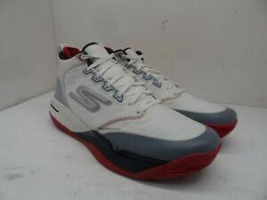 Skechers Men's Mid-Cut Ultra Flight Athletic Basketball Sneakers White Size 12M