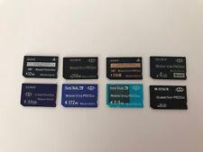 Sony Playstation PSP Memory Cards Pro Duo  32MB 64MB 256MB 512MB 1GB 2GB 4GB 8GB