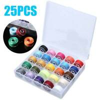 25 COLOUR COTTON POLYESTER SEWING MACHINE THREAD SET HAND REEL SPOOL YARN ROPE