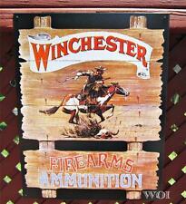 Western Cowboy Winchester Firearm Ammo Rifle Model Metal Wall Advertisement Sign