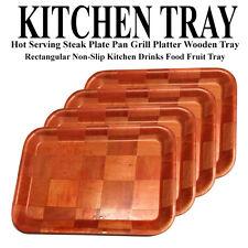 KITCHEN WOODEN SERVING PLATTER HOT SERVING TRAY PLATE PLATTER WOODEN TRAY PLATE