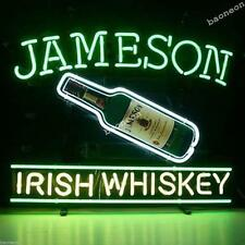 New Jameson Irish Whiskey HANDCRAFTED REAL GLASS BEER BAR NEON LIGHT SIGN