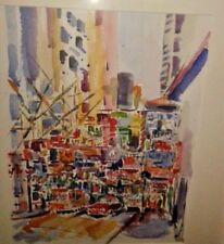 WATERCOLOR PAINTING ORIGINAL HONG KONG LISTED ARTIST RICHARD G. CANNULI O.S.A.