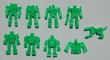 RARE LOT OF 9 TRANSFORMERS FIGURES MEXICAN PREMIUM TOYS AUTOBOTS GREEN COLOR