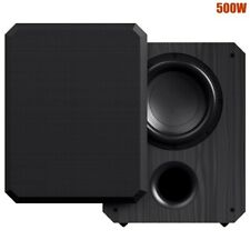 "THX 500W 10"" Subwoofer Active Powered Sub Woofer Bass Home Cinema Built-In Amp"