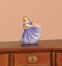 Ornamental Lady In Blue Dolls House Miniature Ornament