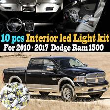 10Pc Super White Interior LED Light Bulb Kit Pack for 2010-2017 Dodge Ram 1500