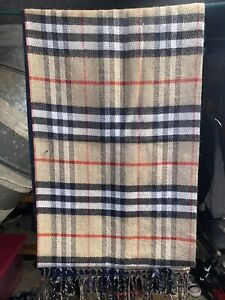 Burberry The Classic Vintage Check Cashmere Scarf Unisex Black NWT
