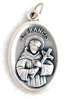 ST FRANCIS EMBRACING HIS CROSS Catholic Saint Medal patron animals poverty pets