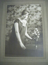 Vintage Original Cabinet Portrait Photograph of Woman - by Horace Dudley -1920's