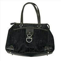 Etienne Aigner Black on Black Logo Handbag Purse #B049