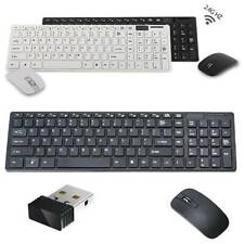 Cordless Wireless Keyboard And Mouse Combo Set For PC Mac Latptop Tablet Desktop