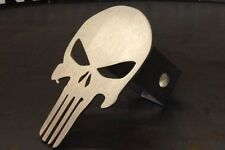 "Punisher Skull Hitch Cover - 1/8"" Steel - Tow Towing Reese Custom"