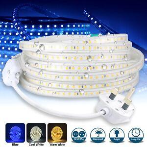 Led Strip Lights 220v 240v IP67 Waterproof 5050 SMD Rope Garden Decking Kitchen